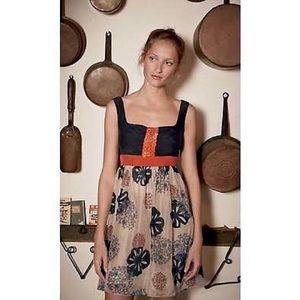 '08 Anthro Buttonblossom Dress